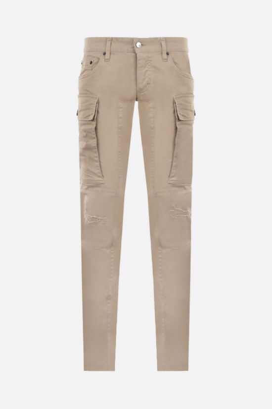 DSQUARED2: Sharpei cotton cargo pants Color Neutral_1