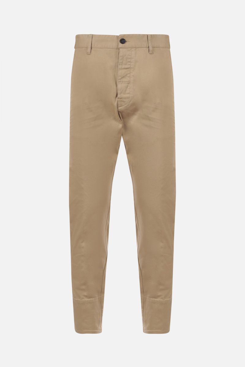 DSQUARED2: pantalone Hockney in cotone stretch Colore Neutro_1