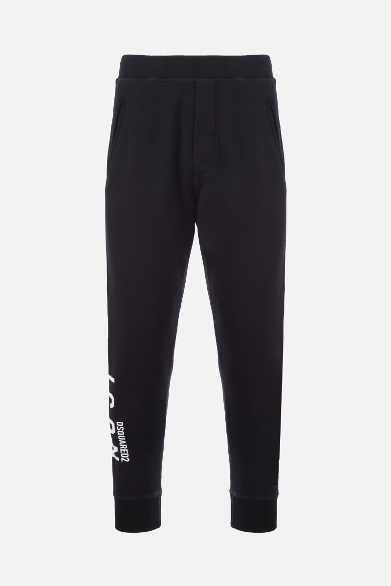 DSQUARED2: pantalone jogging Dsquared2 Icon in cotone Colore Nero_1