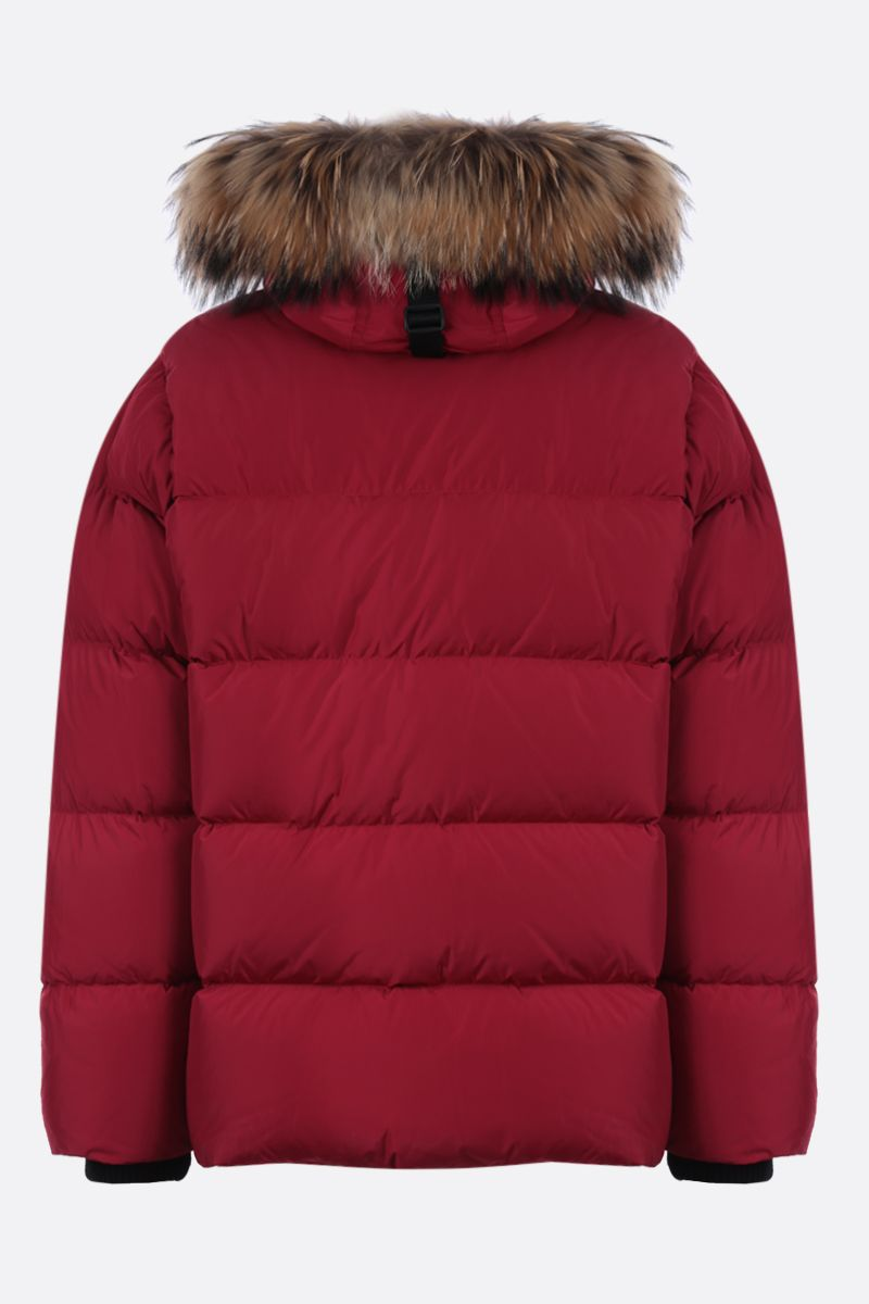 DSQUARED2: logo patch nylon down jacket Color Red_2