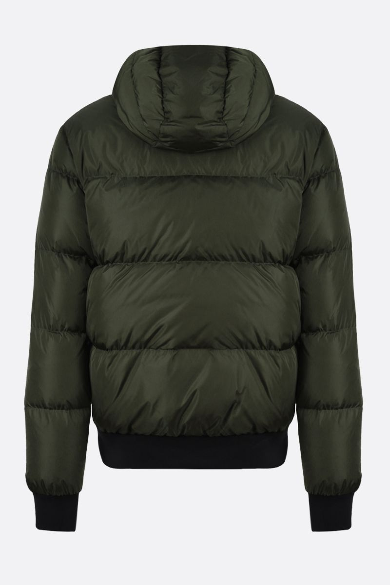 DSQUARED2: DSQ2 Milano Italy print nylon down jacket Color Green_2