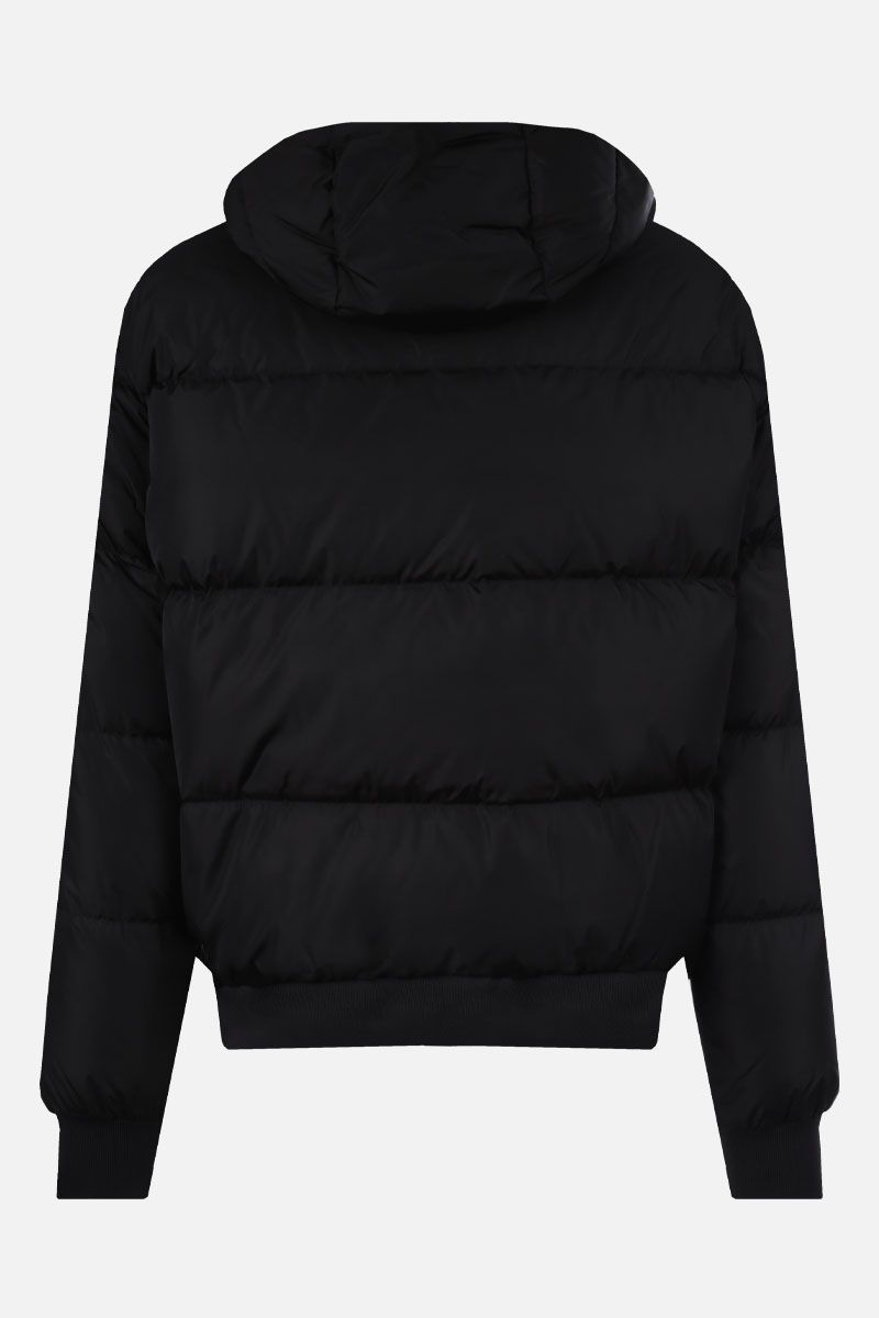 DSQUARED2: DSQ2 Milano Italy print nylon down jacket Color Black_2