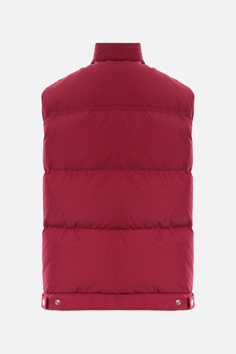 DSQUARED2: logo label-detailed nylon sleeveless down jacket Color Red_2