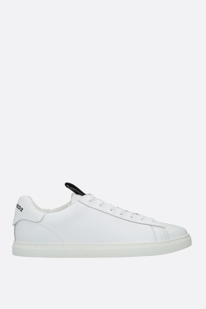 DSQUARED2: Evolution Tape smooth leather sneakers Color White_1