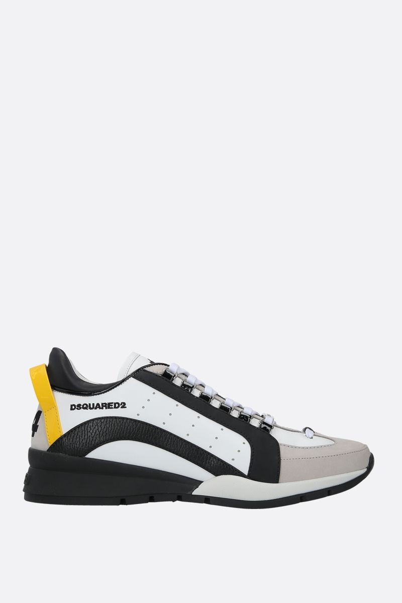 DSQUARED2: 551 smooth leather and nabuk sneakers_1