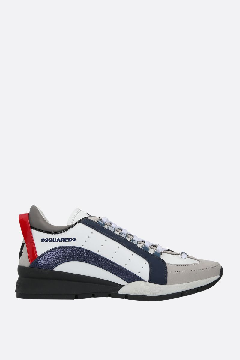 DSQUARED2: 551 smooth leather and nabuk sneakers Color Multicolor_1
