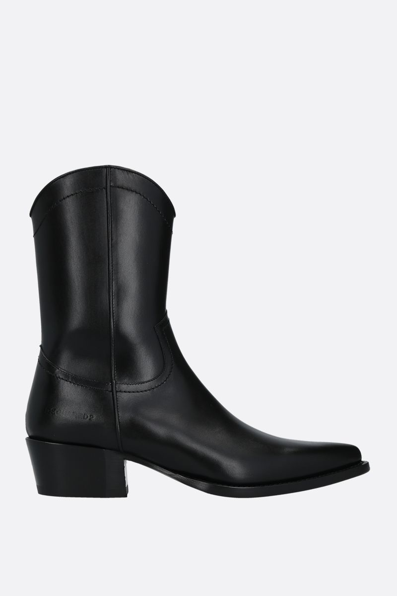 DSQUARED2: shiny leather western boots Color Black_1