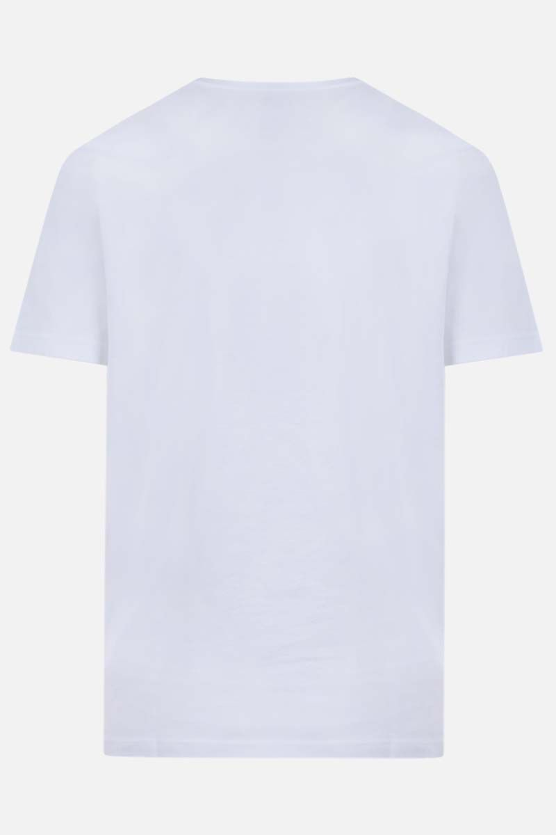 DSQUARED2: t-shirt in cotone stampa Born to be a Fighter Colore Bianco_2