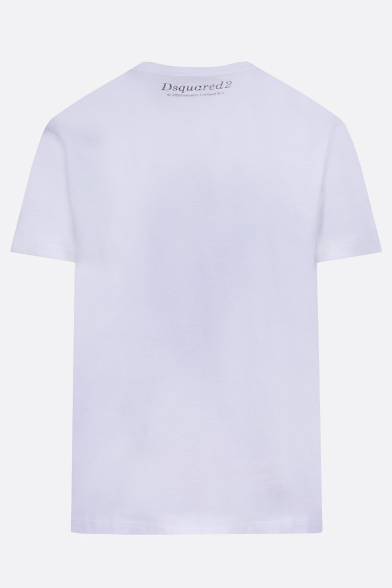 DSQUARED2: Love Is print cotton t-shirt Color White_2