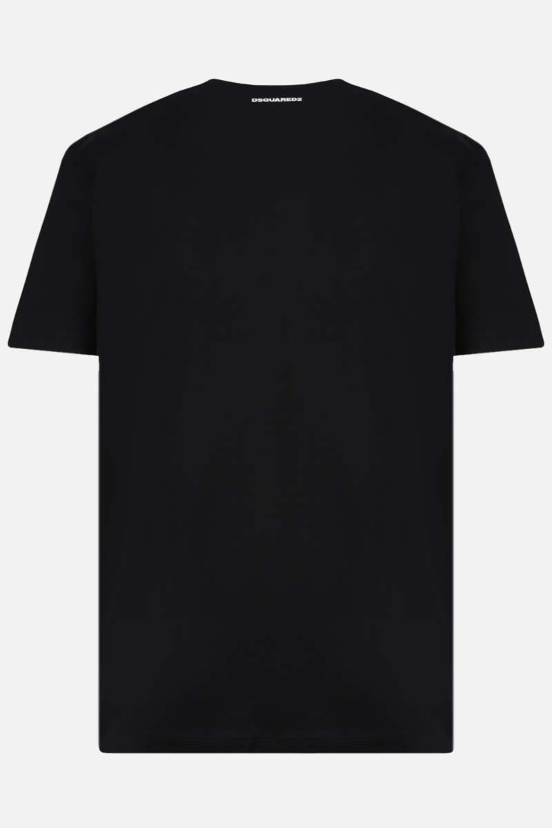 DSQUARED2: DSQ 9520 print cotton t-shirt Color Black_2