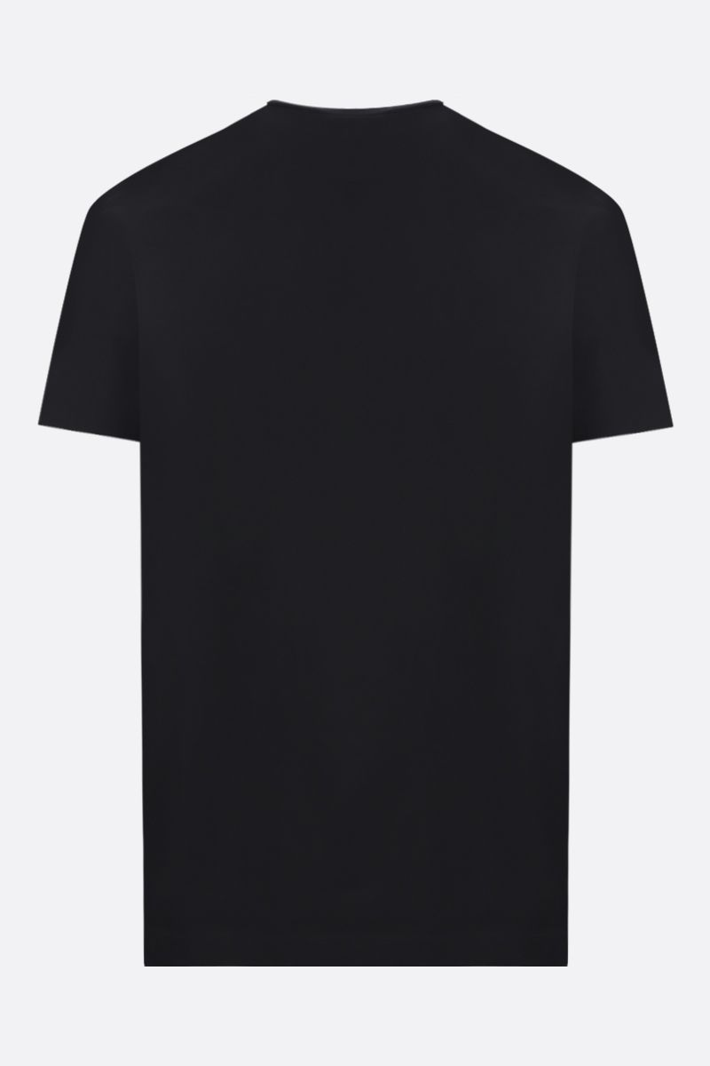 DSQUARED2: Rugby 1964 print cotton t-shirt Color Black_2