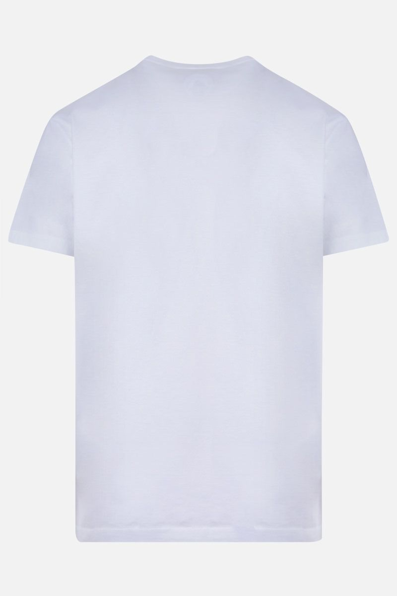 DSQUARED2: Dsquared2 Dean & Dan Caten print cotton t-shirt Color White_2