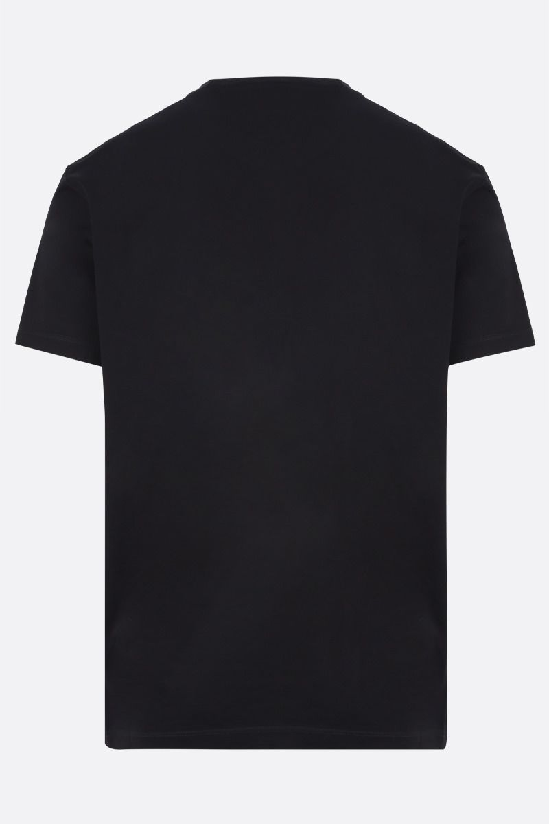 DSQUARED2: Dsquared2 Dean & Dan Caten print cotton t-shirt Color Black_2