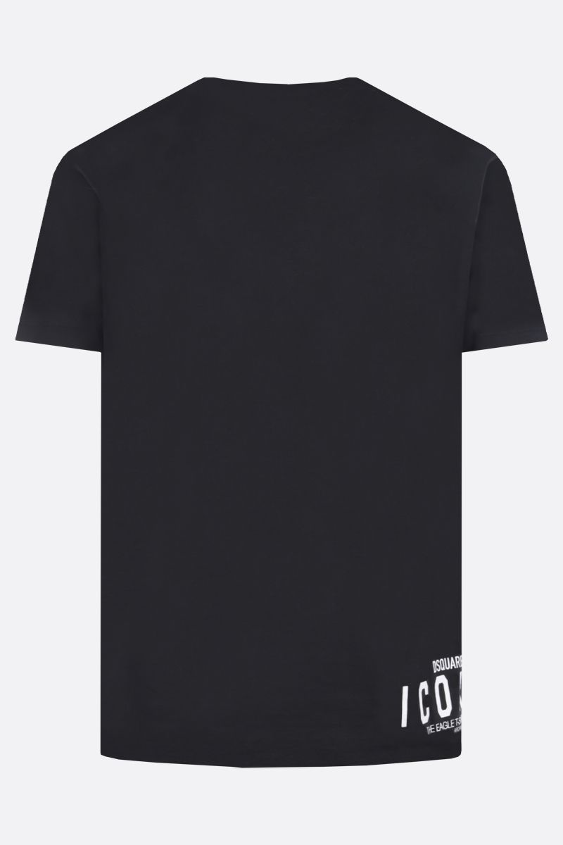 DSQUARED2: t-shirt D2 Icon Eagle in cotone Colore Nero_2