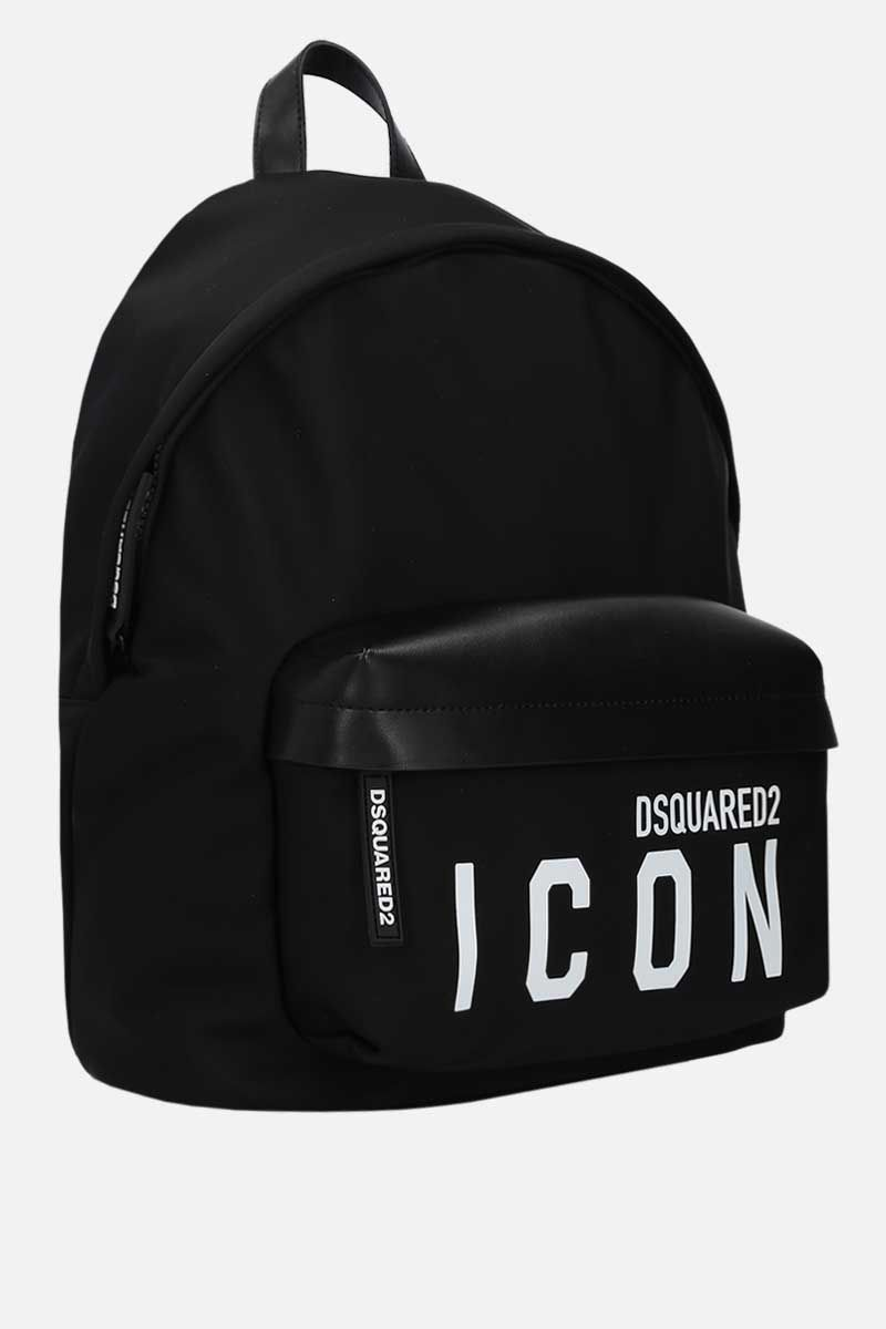 DSQUARED2: Dsquared2 Icon nylon backpack Color Black_2