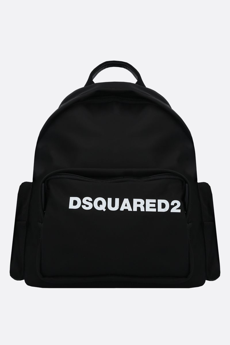 DSQUARED2: Dsquared2 print nylon backpack Color Black_1