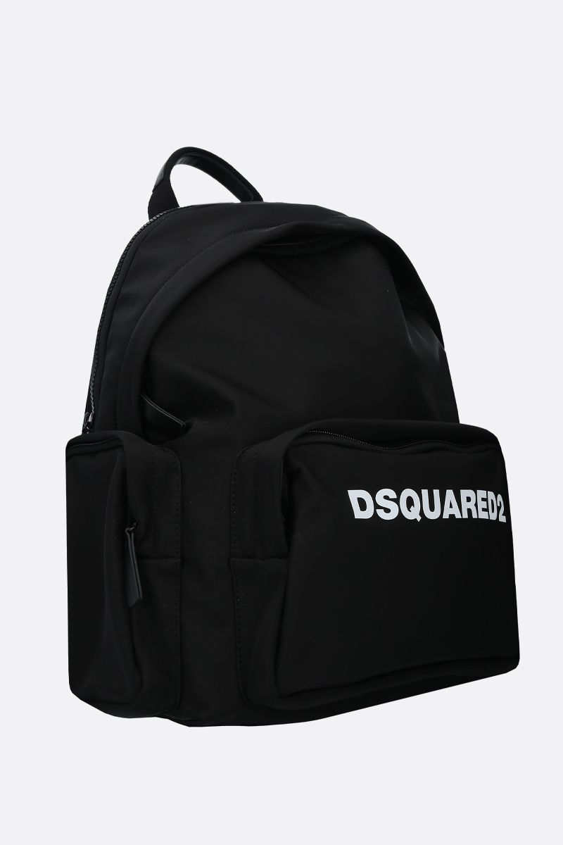 DSQUARED2: Dsquared2 print nylon backpack Color Black_2