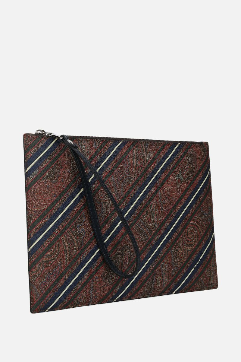 ETRO: porta tablet in canvas Paisley a righe_2