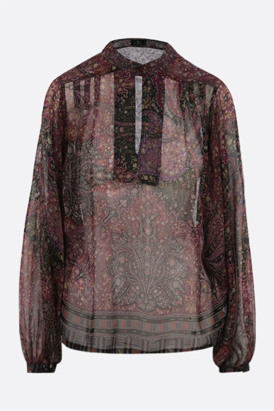 ETRO: floral print silk chiffon blouse Color Multicolor_1