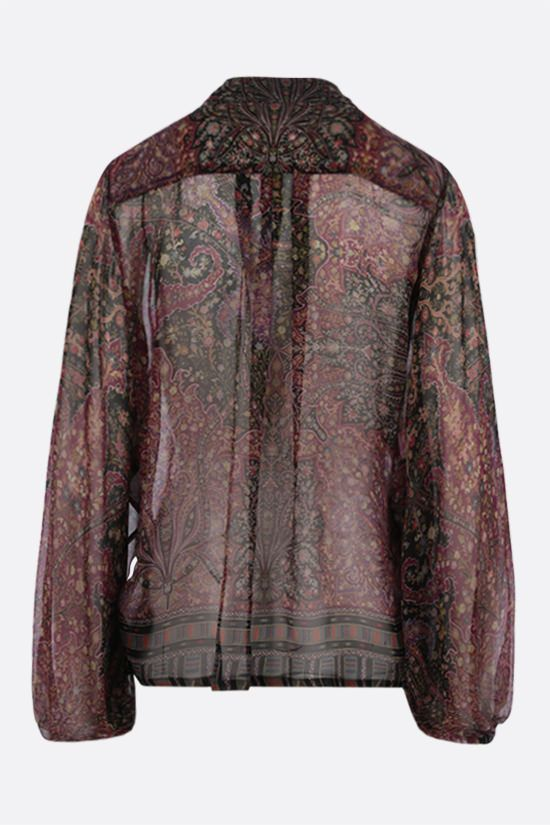 ETRO: floral print silk chiffon blouse Color Multicolor_2