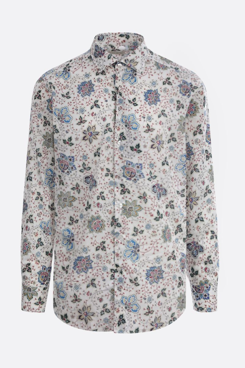 ETRO: Paisley print cotton shirt Color White_1