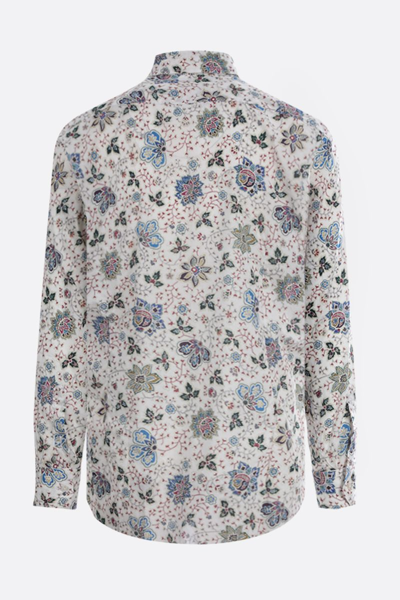 ETRO: Paisley print cotton shirt Color White_2
