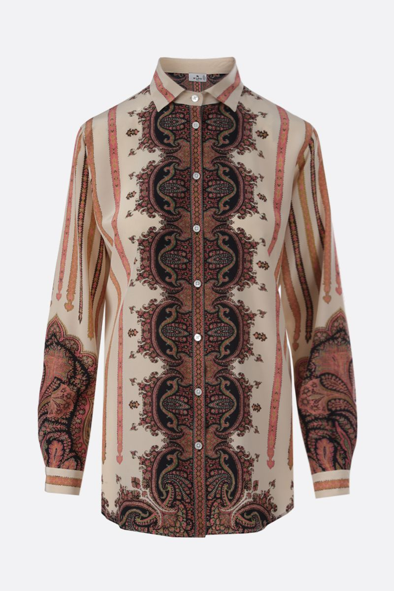 ETRO: Paisley print silk shirt Color Multicolor_1