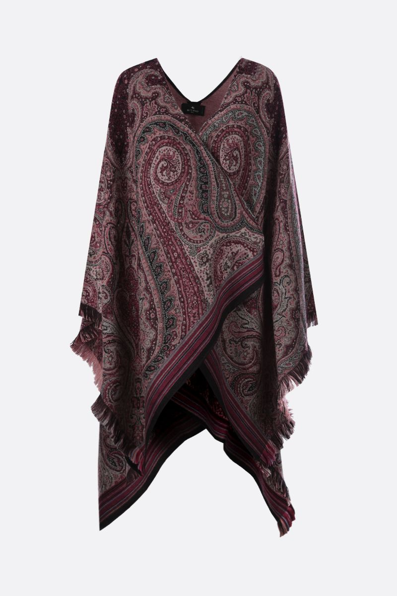 ETRO: Paisley-motif jacquard cape Color Multicolor_1