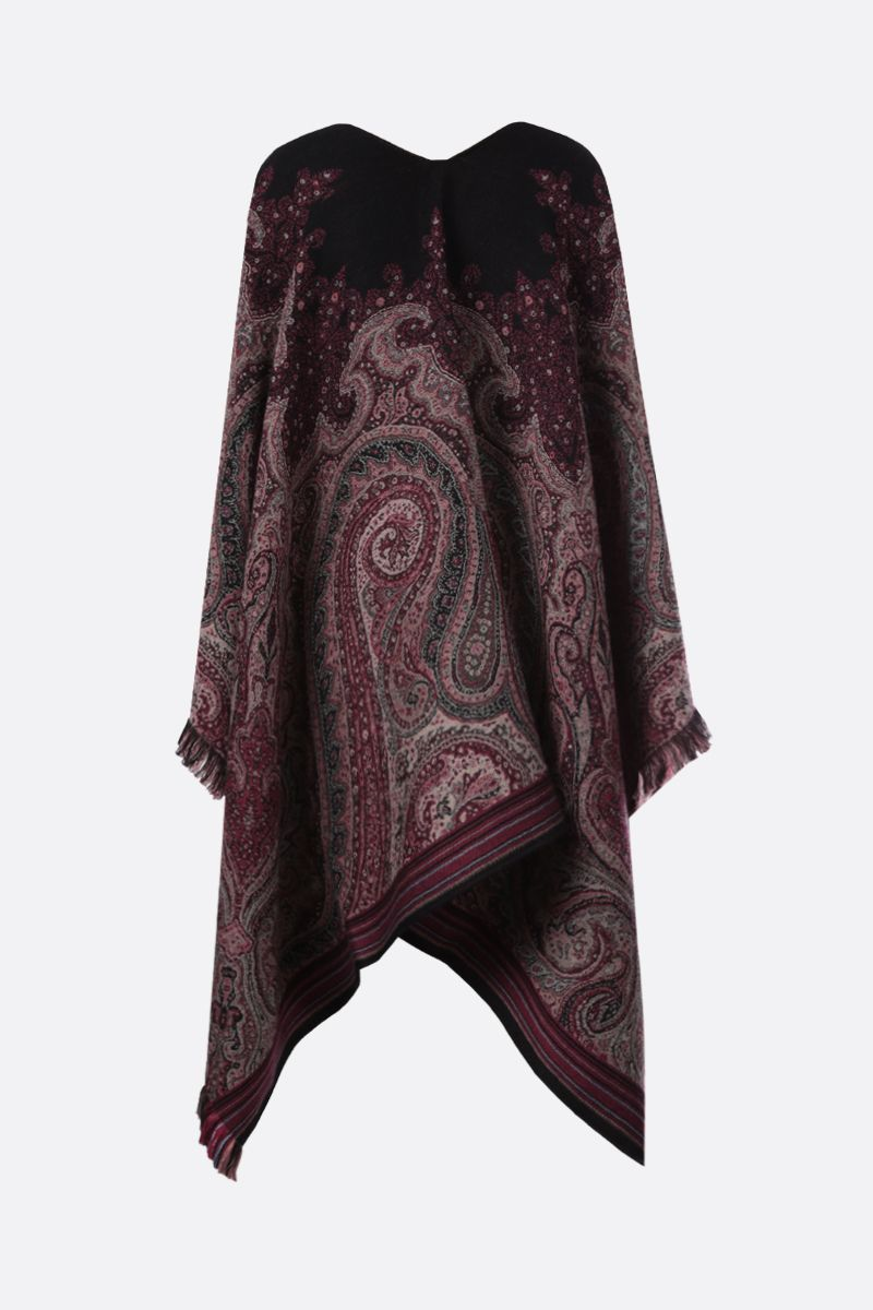 ETRO: Paisley-motif jacquard cape Color Multicolor_2