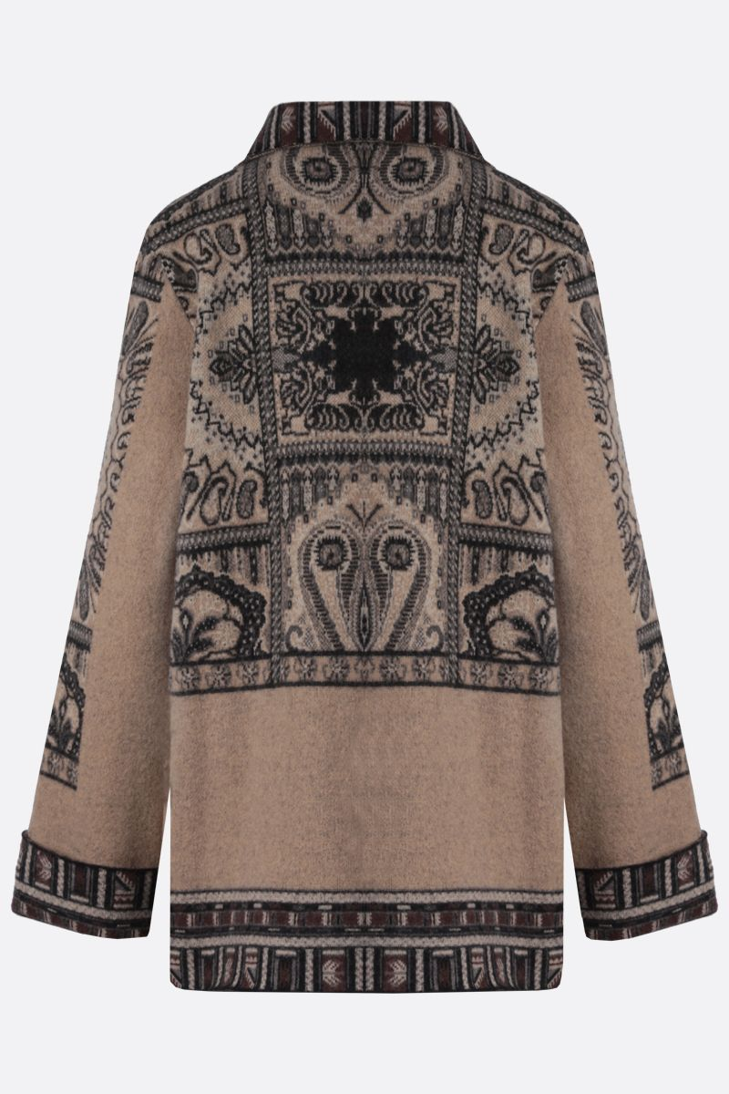 ETRO: Paisley-motif wool double-breasted coat Color Multicolor_2