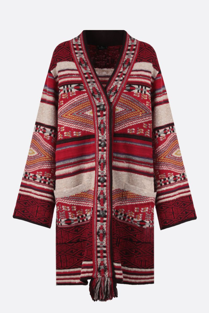 ETRO: wool silk blend cardigan Color Neutral_1