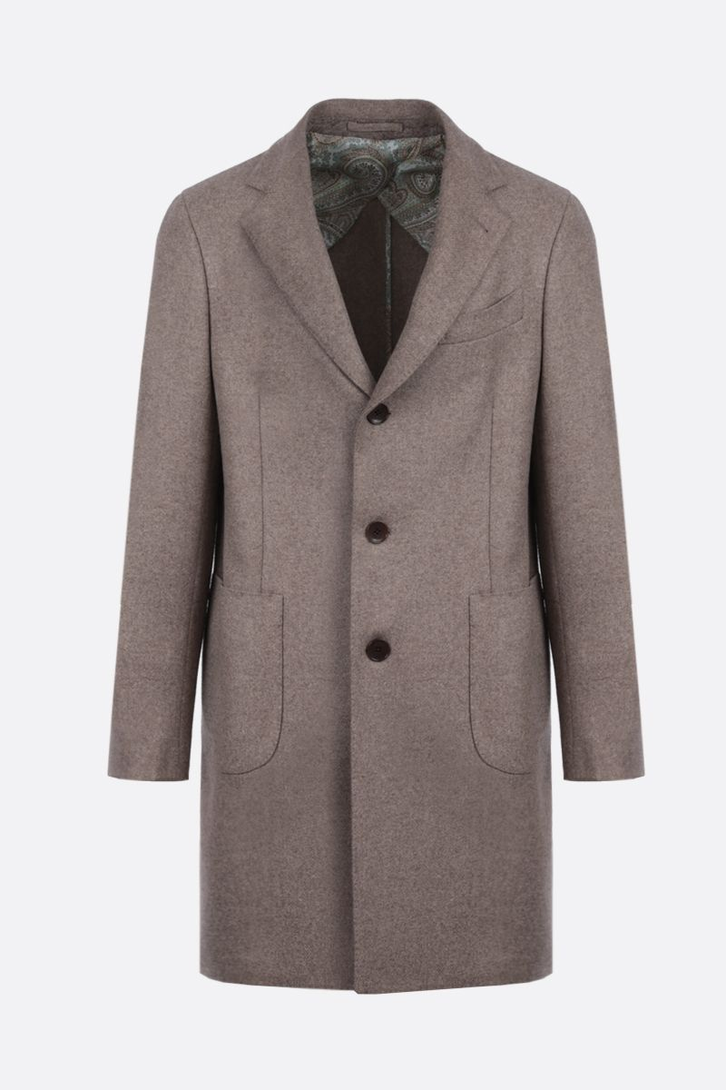 ETRO: yack single-breasted coat Color Neutral_1