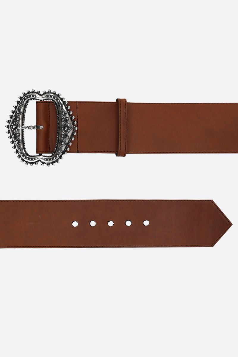 ETRO: smooth leather waist belt Color Brown_2
