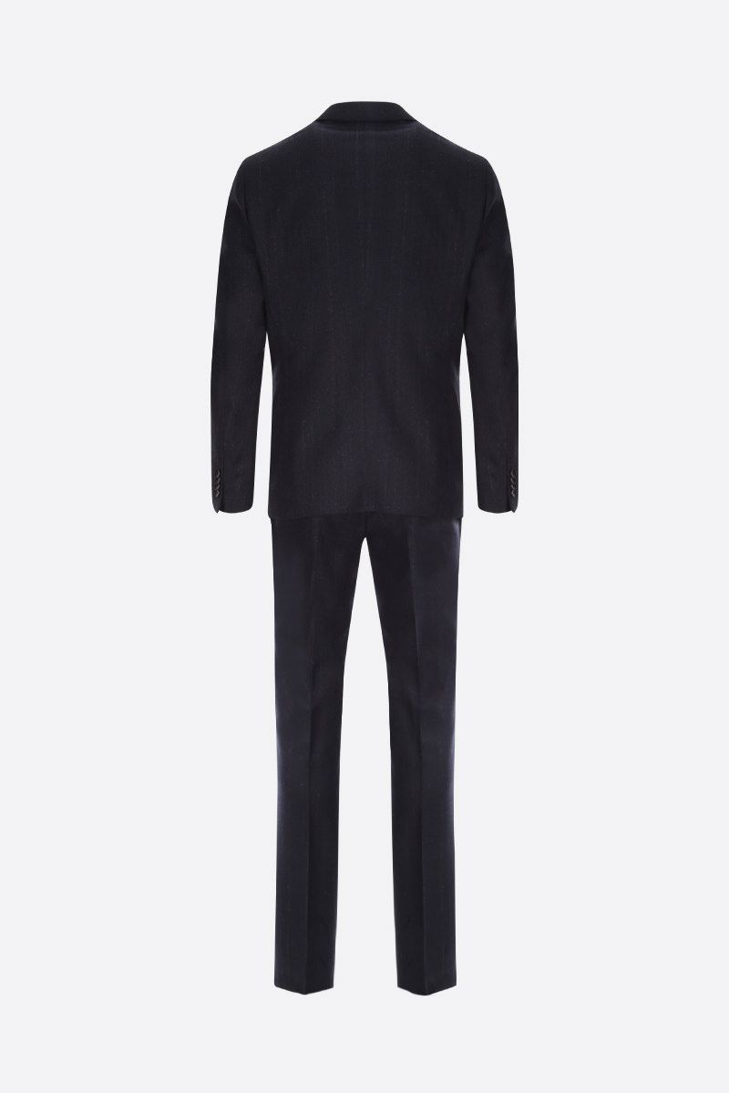 ETRO: striped wool two-piece suit Color Blue_2