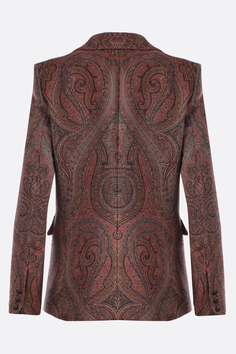 ETRO: Paisley-motif wool silk blend single-breasted jacket Color Multicolor_2