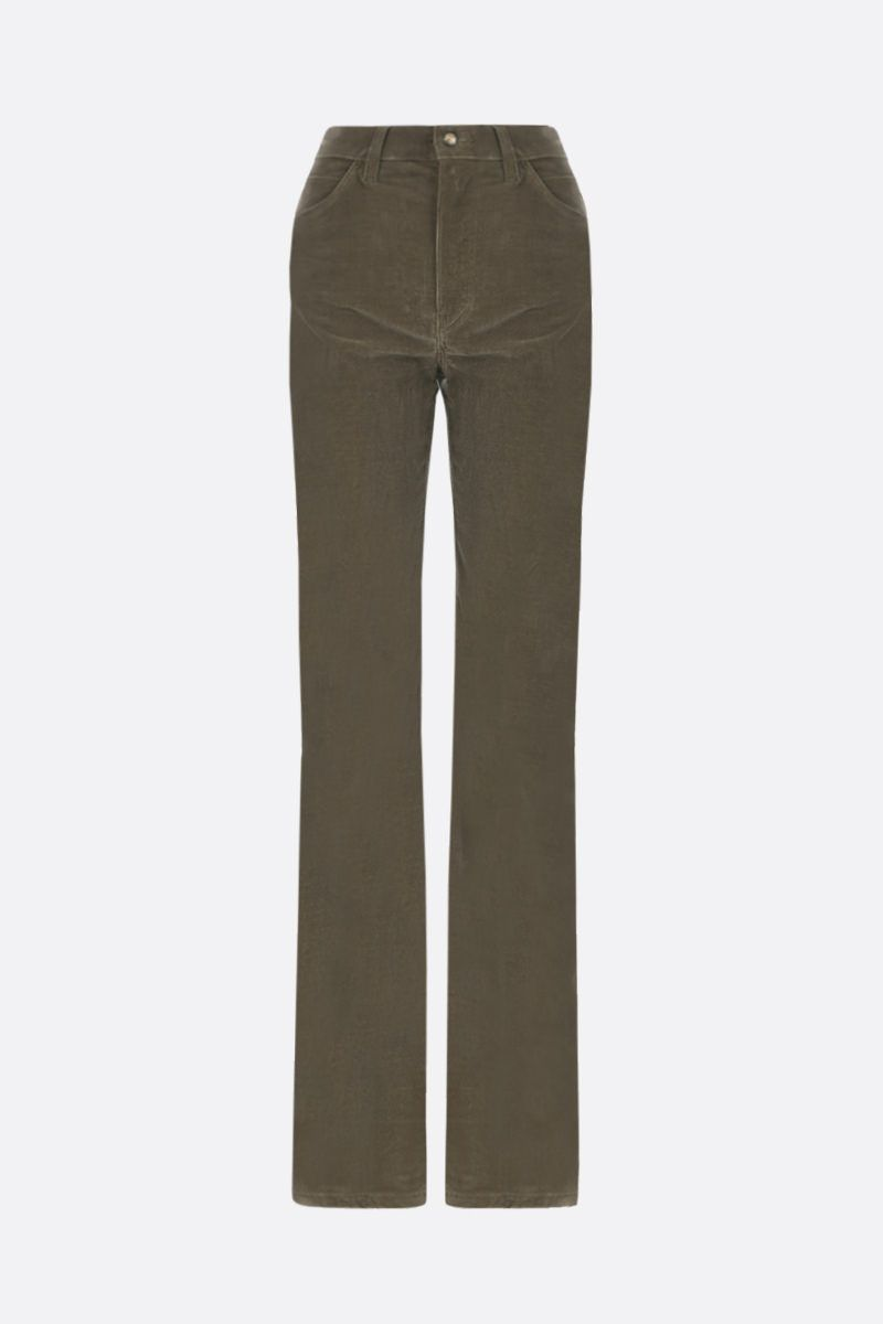 ETRO: ribbed velvet flare pants Color Brown_1