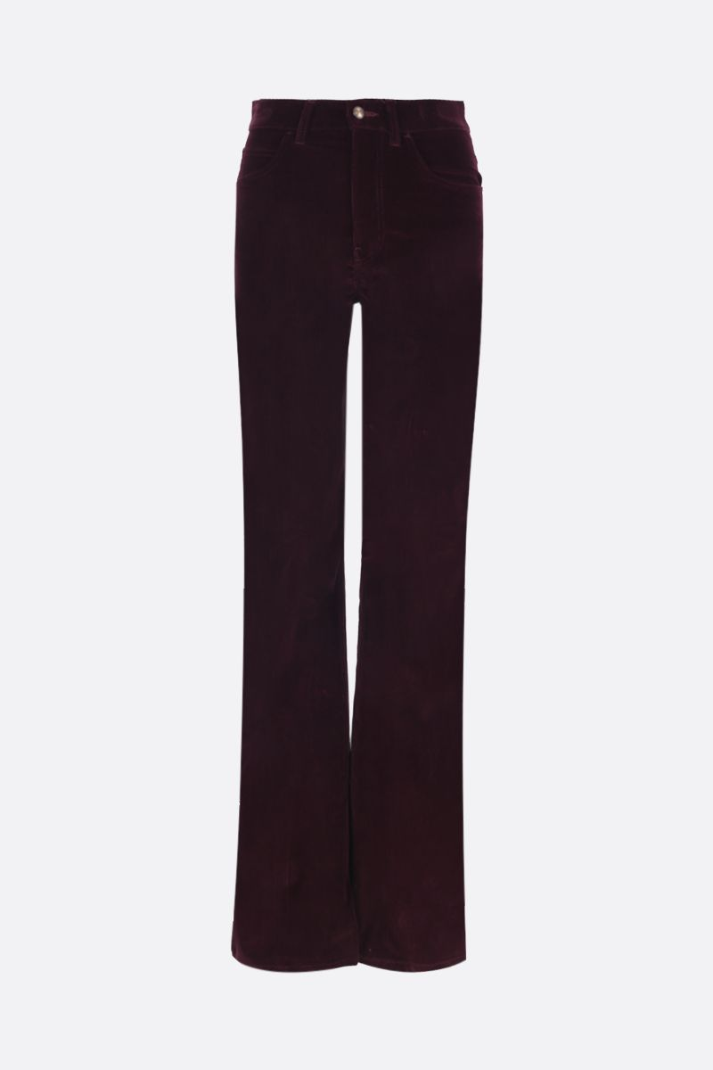ETRO: ribbed velvet flare pants Color Red_1