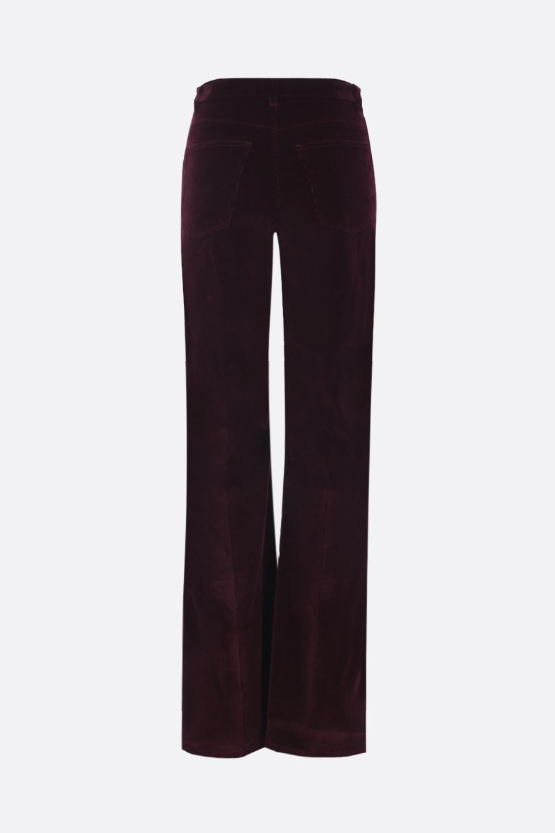 ETRO: ribbed velvet flare pants Color Red_2