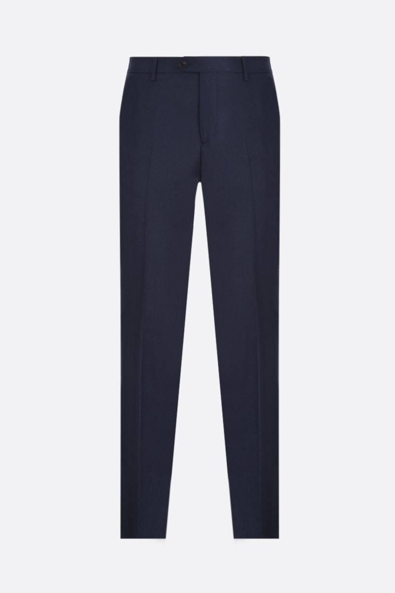 ETRO: pantalone slim-fit in lana Colore Blu_1