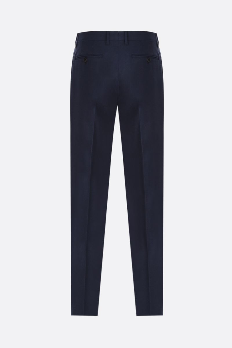 ETRO: pantalone slim-fit in lana Colore Blu_2