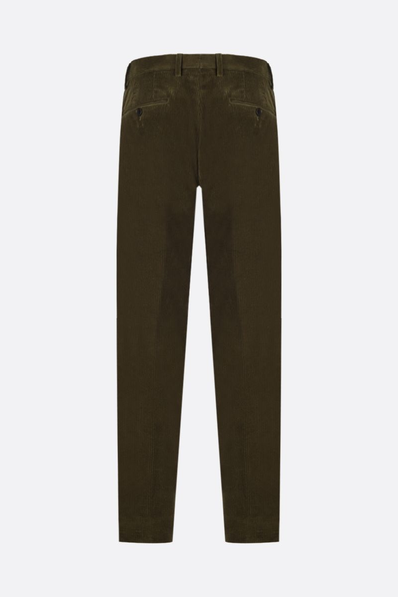 ETRO: ribbed velvet slim-fit pants Color Green_2