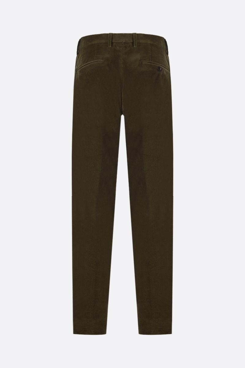 ETRO: pantalone slim-fit con pinces in velluto a costine Colore Marrone_2
