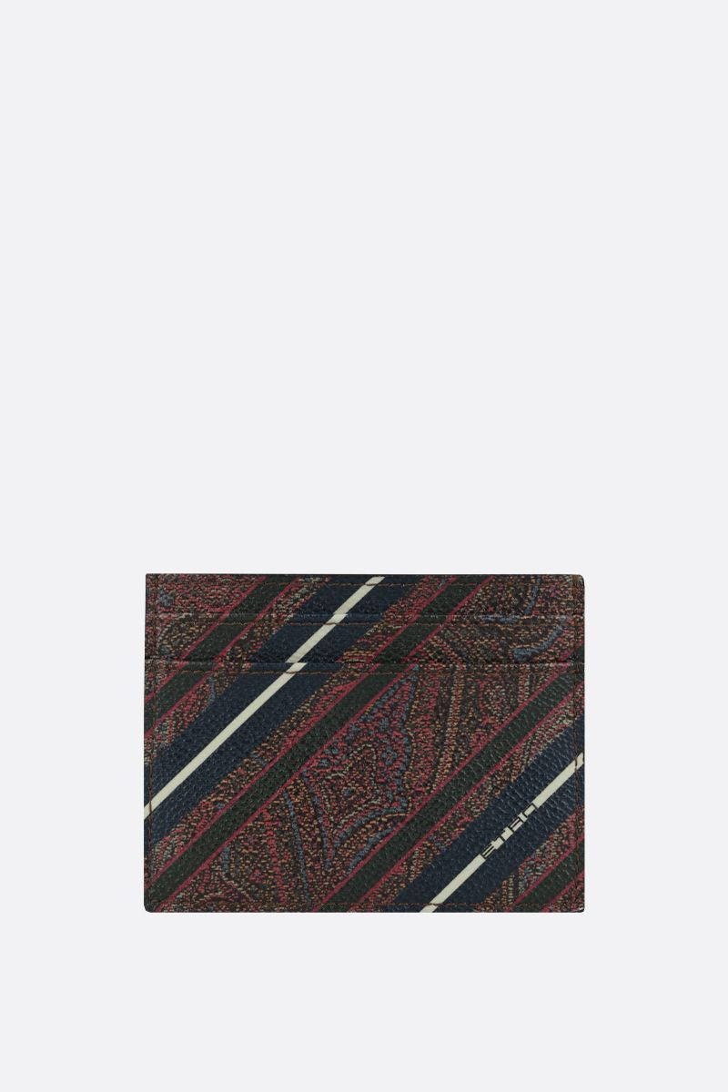 ETRO: striped Paisley canvas card case_1