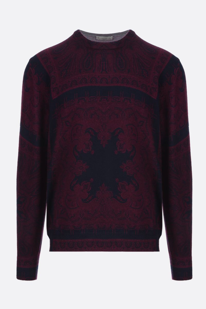 ETRO: Paisley print wool pullover_1