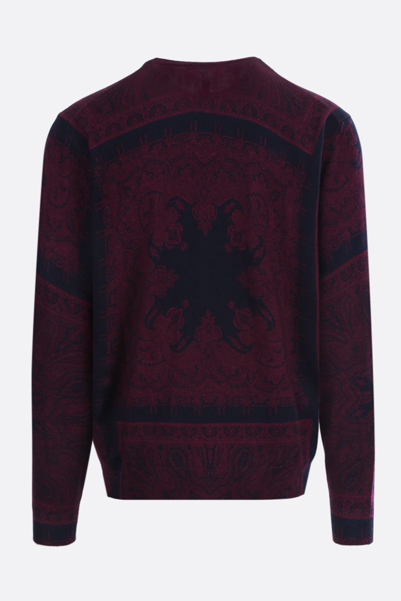 ETRO: Paisley print wool pullover_2
