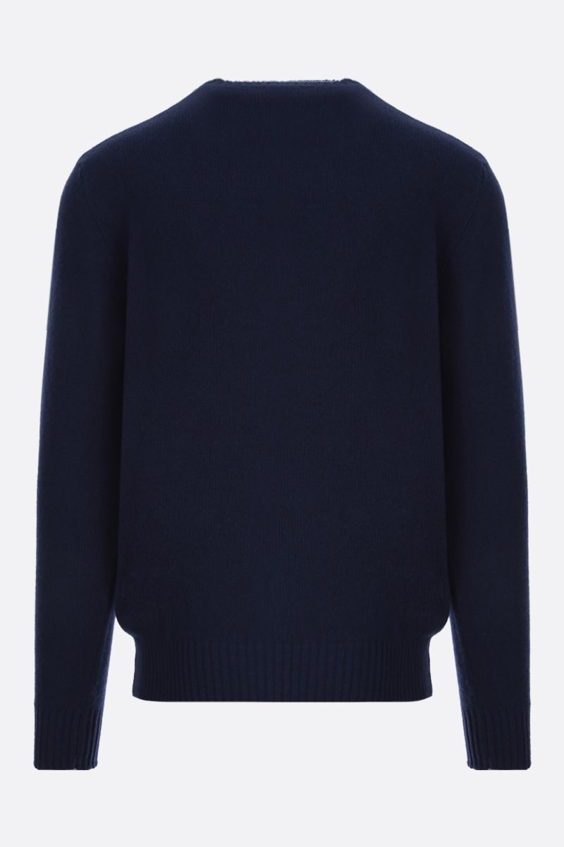 ETRO: Pegaso embroidered wool pullover Color Blue_2