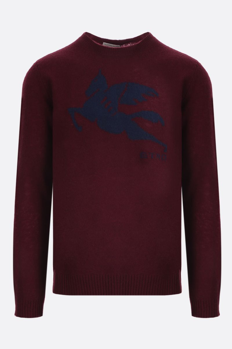 ETRO: Pegaso intarsia wool pullover Color Red_1