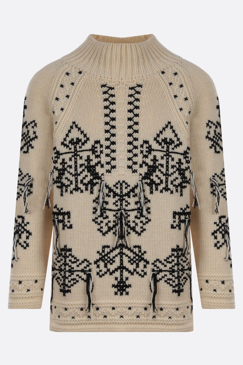 ETRO: graphic embroidered wool pullover Colore Multicolore_1