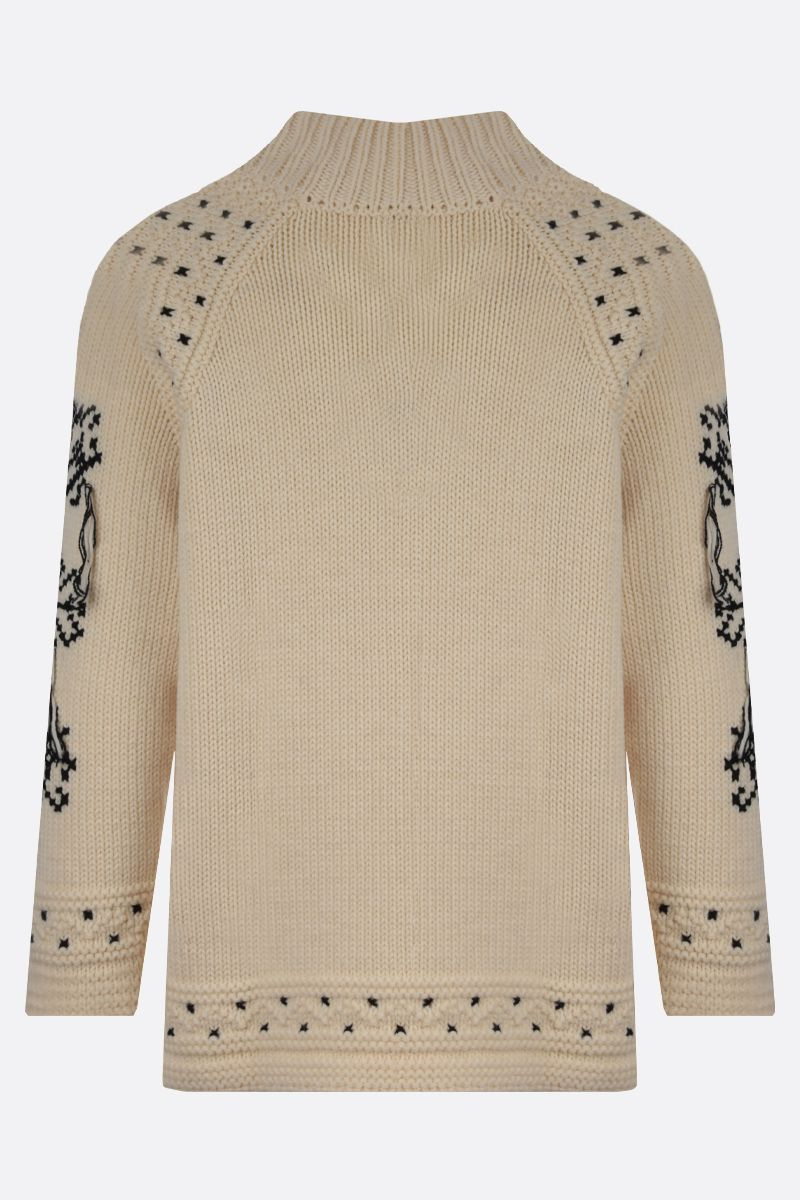 ETRO: graphic embroidered wool pullover Colore Multicolore_2