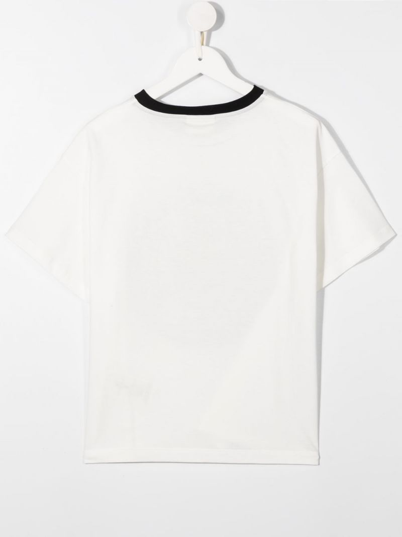 FENDI KIDS: FF print cotton t-shirt Color Neutral_2